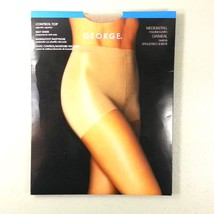 New George Control Top Pantyhose Oatmeal Color Size Medium / Tall New In... - $9.99