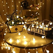 Globe String Lights Battery Powered with Remote Control LED Fairy Light ... - $22.16