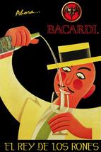 Bacardi Rum King Vintage ad POSTER.Cuban.Bedroom Bar Decor.El mejor ron! 01i - $10.89+