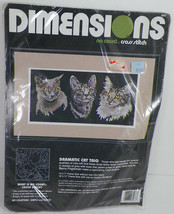 Dimensions Dramatic Cat Trio Kittens No Count Cross Stitch -H2 - $18.99