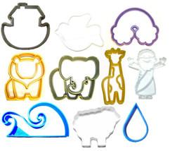 Noahs Ark Animals Rainbow Flood Story Bible Set Of 10 Cookie Cutters USA PR1169 - $22.99