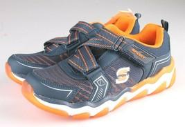 Skechers Boys S Sport blue orange Orin Hook & Loop Slip-on Sneaker Shoes 2 NWT image 1