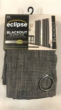"Brand new Eclipse Blackout Grommet Curtain Panel Rowland Gray 52"" X 84"" - $24.74"
