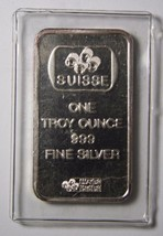 Pamp Suisse Silver 1 Troy ounce Bar.  Rare Flower Rosa  art ingot Lot# N 479