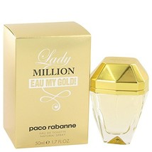 Lady Million Eau My Gold by Paco Rabanne Eau De Toilette Spray 1.7 oz -1... - $59.50