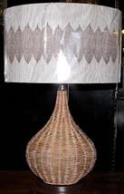 "Rattan Wicker Table Lamp 24""H - $62.36"