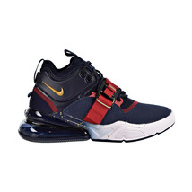 Nike Air Force 270 Big Kids Shoes Obsidian-Metallic Gold-Gym Red AJ8208-400 - $119.95