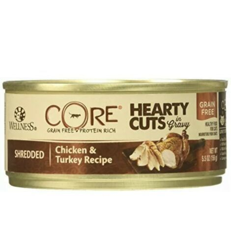 Primary image for Wellness CORE Natural Grain Free Hearty Cuts Chicken and Turkey Canned Cat Food