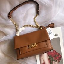 Michael Kors Cece Chain Medium Shoulder Bag Brown Auth - $340.00