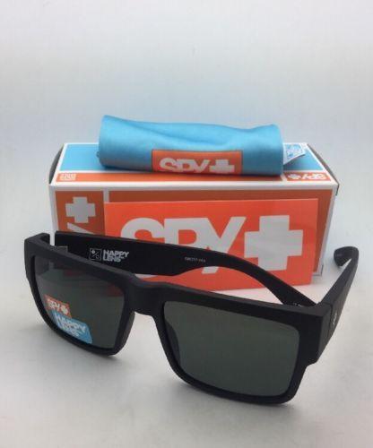 New SPY OPTIC Sunglasses CYRUS Matte Black Frames with Happy Grey-Green Lenses