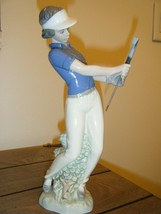 """Nao by Lladro """"fore"""" Golf Figurine 1985 FEMALE - $81.00"""