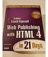 Sams Teach Yourself Web Publishing HTML 4 Profess. Ref Hardcover Ed+new ... - $9.79