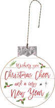 PBK Christmas Decor - Cheer and Cozy New Year Ornament - $8.95