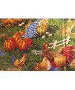 "Fall Pumpkin 42""W 15""L  Valance Farm Chicken HaNdMaDe Window  Cotton fab... - $9.89"
