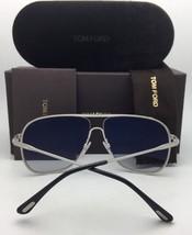 New TOM FORD Sunglasses DOMINIC TF 451 09C 60-11 140 Gunmetal Aviator w/ Mirror