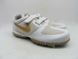 Nike Women's SP 3.5 Lite Hook & Loop Fastener Athletic Golf Shoes White/Tan - $14.99