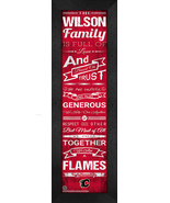 "Personalized Calgary Flames ""Family Cheer"" 24 x 8 Framed Print - $39.95"