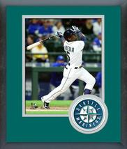 Guillermo Heredia Seattle Mariners 2016 Action -11x14 Logo Matted/Framed Photo - $42.95
