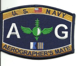 US Navy AG Aerographer's Mate Patch - $9.99