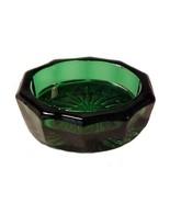 Hunter Green Glass Oval Open Salt Dip Cellar Sa... - $12.95