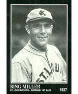 Bing Miller Baseball Card (St. Louis Browns) 1991 Sporting News Conlon Collec... - $3.00