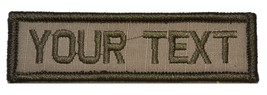 Customizable Text 1x3 Patch w/Velcro  Military/Morale - Coyote Brown - $6.85