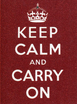"Greeting Card ""Keep Calm and Carry On"" Note Card Blank Inside - $2.99"