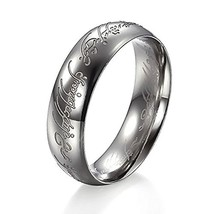 Letter Ring Fashion Stainless Steel - One Ring w/Random Color and Design (sil...