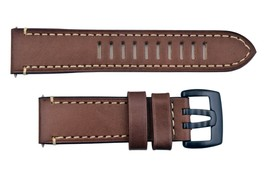 Genuine Luminox watch band men's 1820 1840 Field Brown leather 23mm strap - $64.95