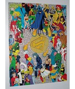 JLA Death of Superman poster:Batman/Wonder Woman/Green Lantern/Supergirl... - $29.99