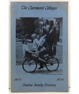 The Claremont Colleges Student-Faculty Directory 1973-1974  - $12.99