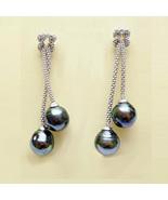 Tahitian Pearl Earrings 9mm - $96.00