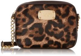 Michael Kors Hamilton Leopard Print Haircalf Small Cross-body Bag - $222.75