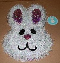 "Easter Bunny Wall Decor Garland Sparkle Ears 14"" x 9"" Plastic Cage Back ... - €7,27 EUR"