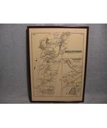 Framed Map Bellingham Massachusetts in 1876 with Surnames - $20.00