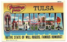 1968 Photo Travel Postcard Tulsa Oklahoma Ham Radio Operator QSL Card WB... - $12.99