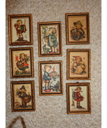 """""""8"""" ORIGINAL HUMMEL FRAMED PRINTS (#1791) They were Made in Western Germany. - $119.99"""