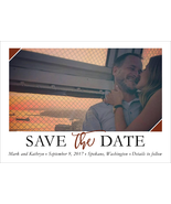 Personalized Save the Date card - Triangle Corn... - $125.00