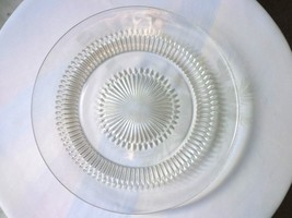 "Set of 6 Jeannette Glass Anniversary Pattern Sandwich Plates 9 1/4"" Wide - $47.51"
