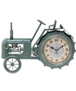 TRaCToR CLOCK  FARMHOUSE BLuE TRaCToR RUSTIC PRiMiTiVE COUNTRY DECOR  15... - $36.95