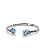 David Yurman Cable Wrap Bracelet with Blue Topa... - $971.74 CAD