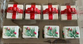 Pfaltzgraff Individual Mini Salt Pepper Winterberry New 4 Sets Christmas... - $16.82