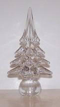 "LOVELY ART GLASS CRYSTAL EVERGREEN CHRISTMAS TREE 7"" SCULPTURE - $37.86"