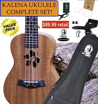 Kalena Factory Direct Ukulele with instruction book, strap, tuner, extra... - $86.62