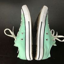 Converse All Star Chuck Taylor-  youth Sz 3,  Mint Green canvas shoes. Nice! image 5