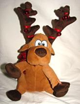 Dan Dee 2011 Animated/Singing/ Christmas Plush Reindeer-Bells on Antlers - $24.00
