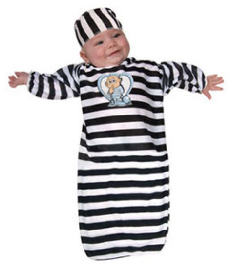 Primary image for Convict Baby Bunting Halloween Costume Size 0-9 Months