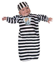 Convict Baby Bunting Halloween Costume Size 0-9 Months   - $19.00
