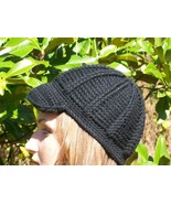 Crocheted Newsboy Cabled Cap Hat Women, Teen, C... - $25.00