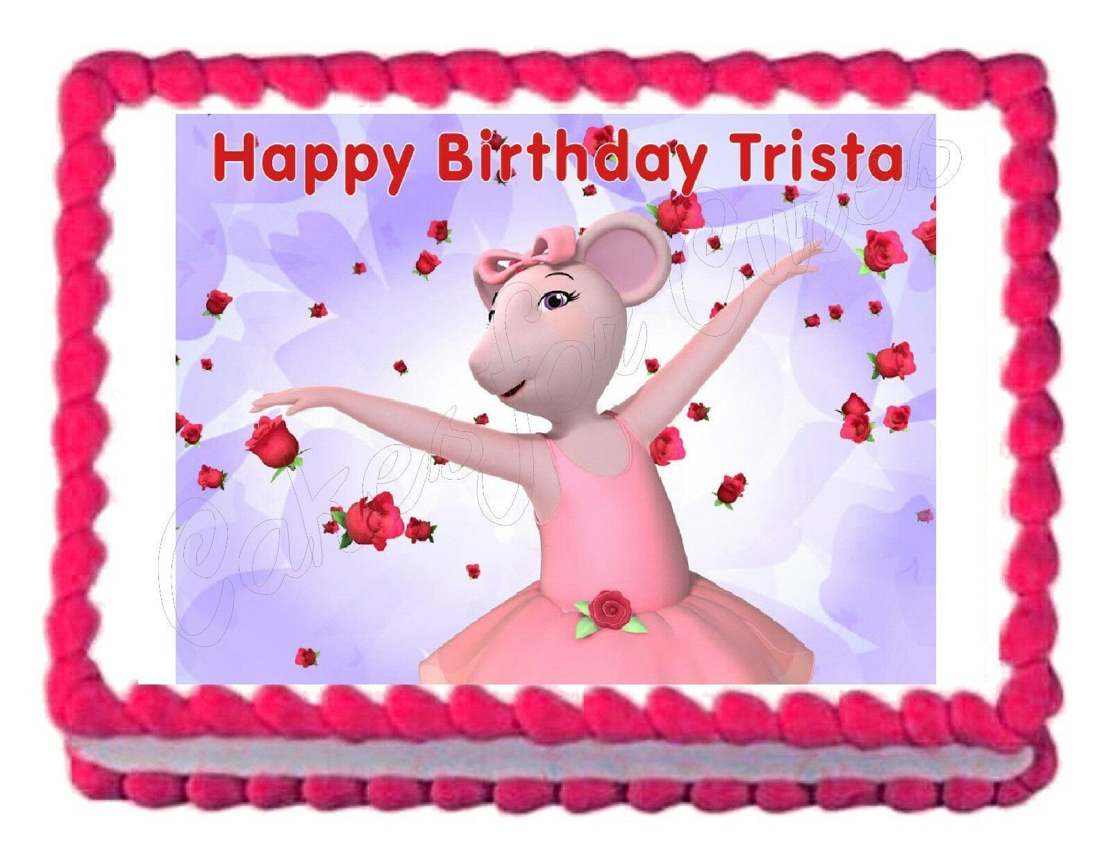 Primary image for Angelina Ballerina Edible Cake Image Cake Topper
